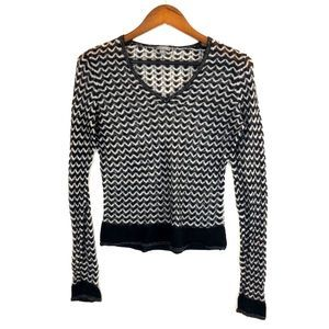 Ann Taylor Wool Mohair Chevron Top